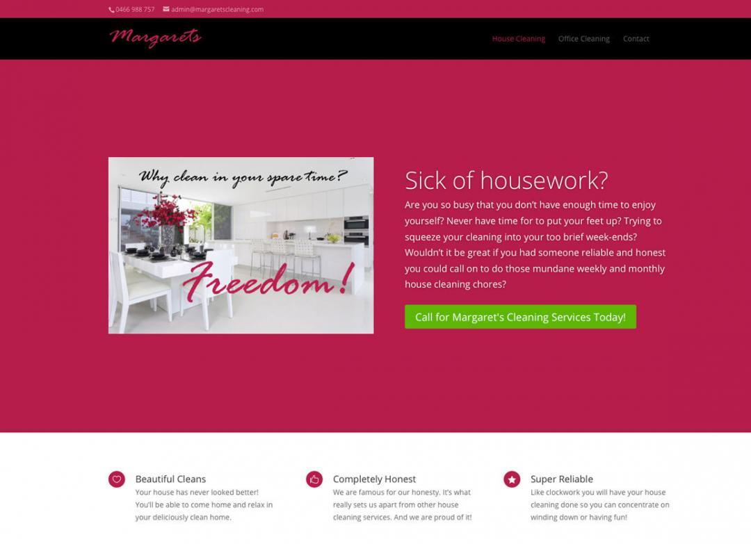 Margarets Cleaning Website